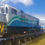 Exportação temporária de locomotiva